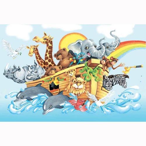 5D Diamond Painting Noah's Ark Rainbow Kit