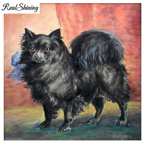 5D Diamond Painting Black Pomeranian Painting Kit
