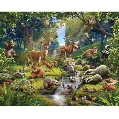 5D Diamond Painting Animals by the Stream Kit
