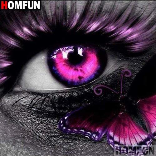 5D Diamond Painting Pink Eyelash Eye Kit