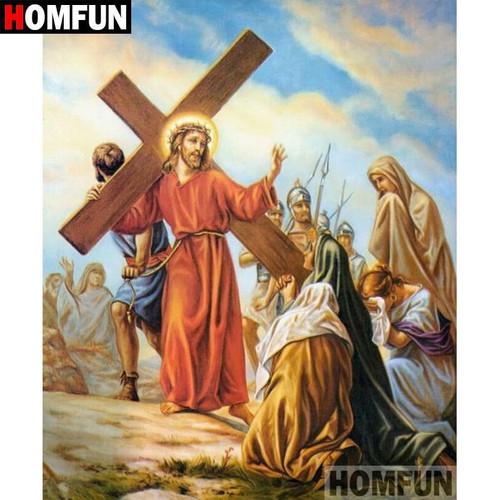 5D Diamond Painting Jesus Carrying the Cross Kit