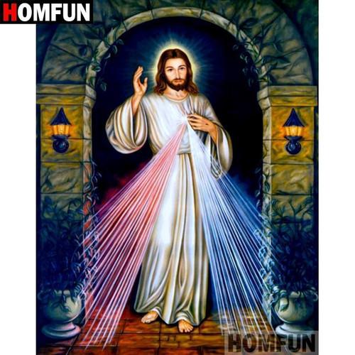 5D Diamond Painting Light of Jesus Heart Kit