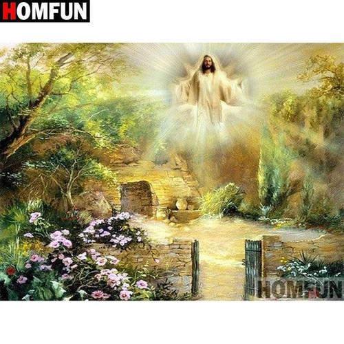 5D Diamond Painting Glory of the Risen Jesus Kit