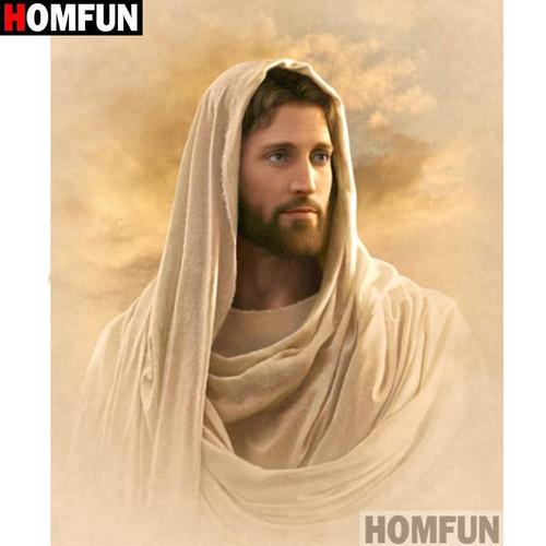 5D Diamond Painting Jesus under a Clouded Sky