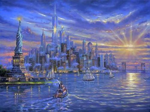 5D Diamond Painting New York Harbor Kit