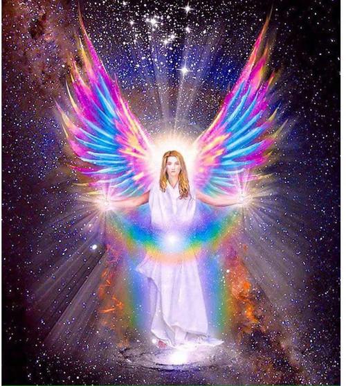 5D Diamond Painting Colorful Angel Wings Kit