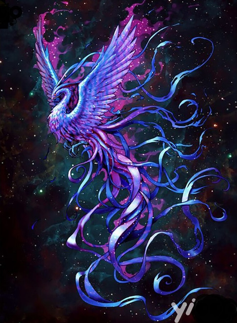 5D Diamond Painting Purple Phoenix Kit