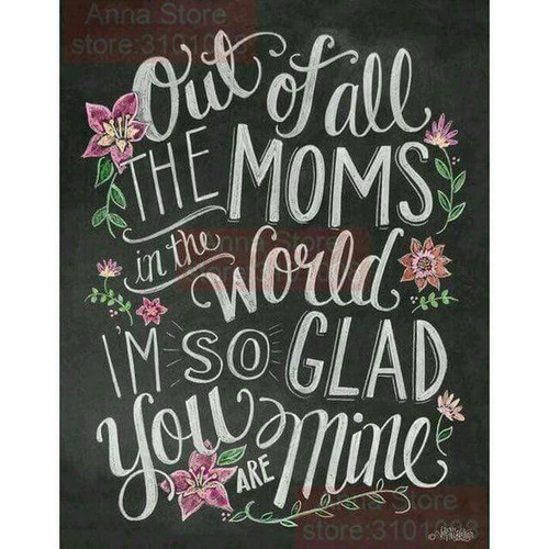 5D Diamond Painting Mom Chalk Board Kit