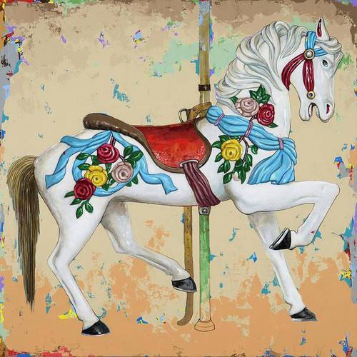 5D Diamond Painting Flower Carousel Horse Kit