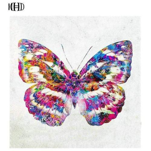 5D Diamond Painting Watercolor Pattern Butterfly Kit