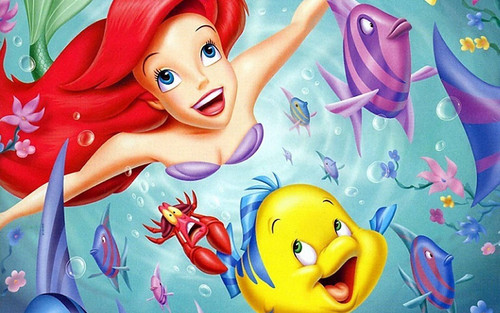 5D Diamond Painting Swimming Ariel and Flounder Kit