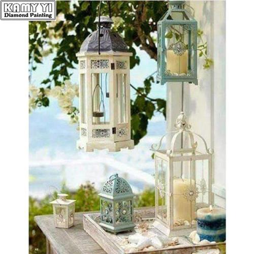 5D Diamond Painting Hanging Candle Lanterns Kit