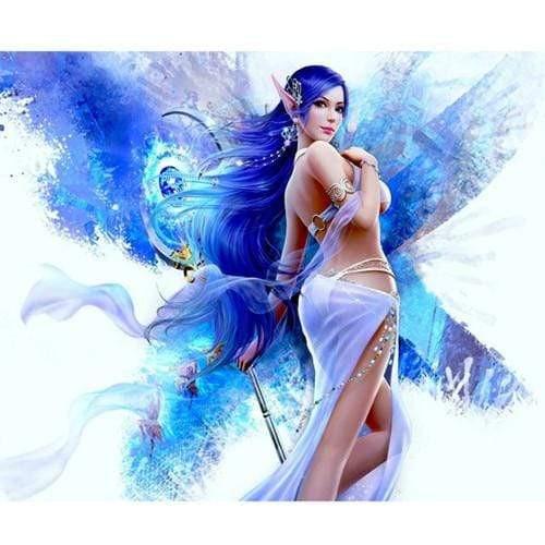 5D Diamond Painting Blue Hair Elf Kit