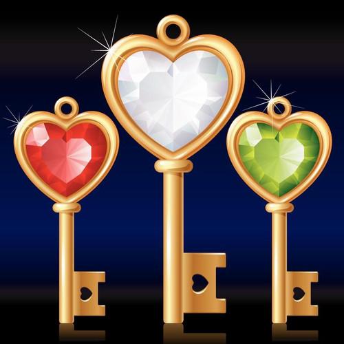 5D Diamond Painting Keys to My Heart Kit