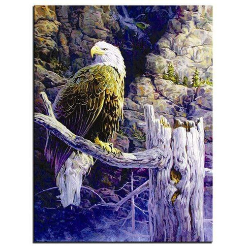 5D Diamond Painting Abstract Eagle Perched Kit