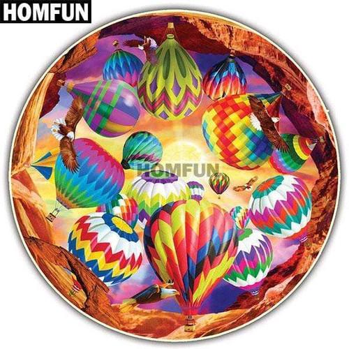 5D Diamond Painting Circle of Hot Air Balloons Kit