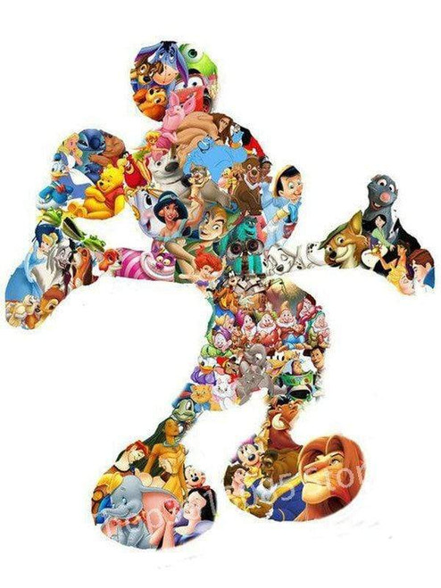 5D Diamond Painting Mickey Figure Collage Kit