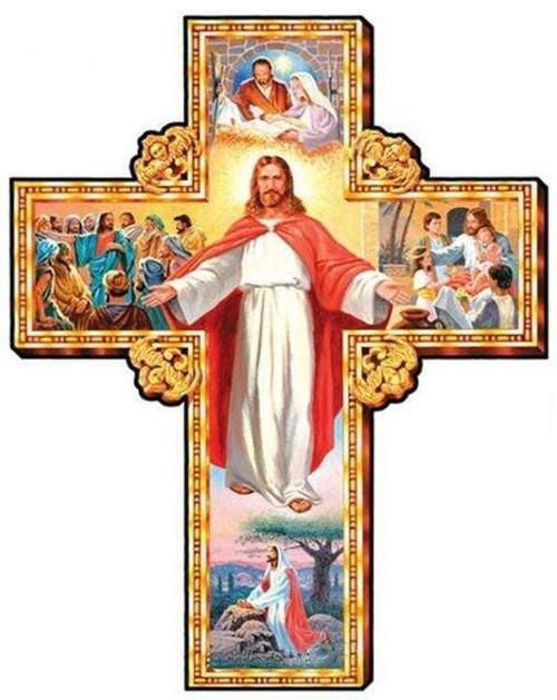 5D Diamond Painting Jesus Cross Collage Kit