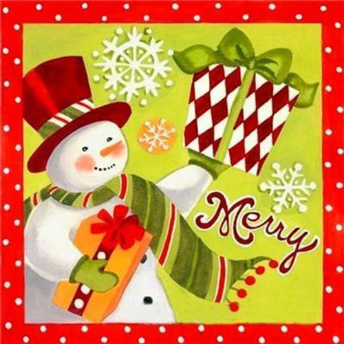 5D Diamond painting Merry Presents and Snowman Kit