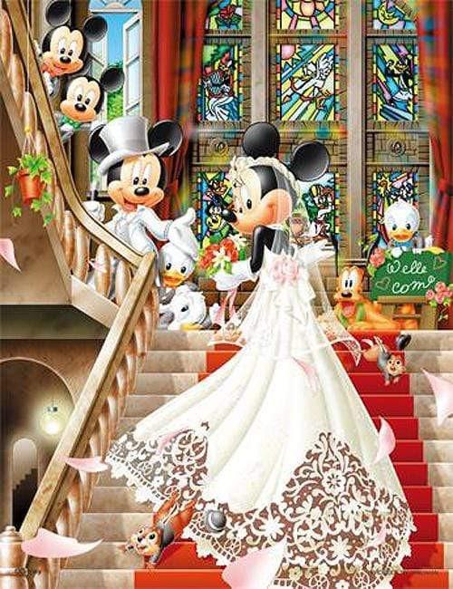 5D Diamond Painting Minnie Mouse Wedding Kit