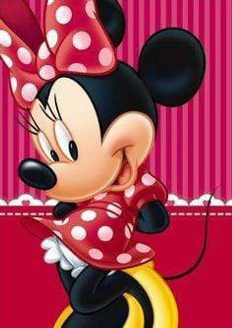 5D Diamond Painting Striped Background Minnie Kit