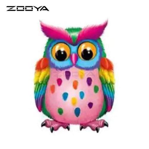 5D Diamond Painting Rainbow Gumdrop Owl Kit
