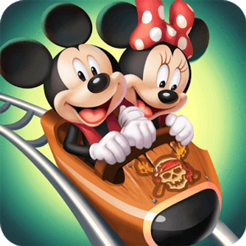 5D Diamond Painting Mickey and Minnie Pirate Roller Coaster Ride Kit
