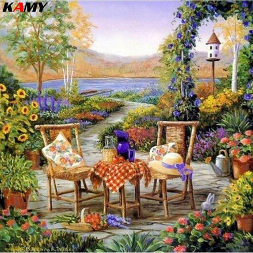 5D Diamond Painting Gardening by the Water Kit