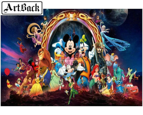 5D Diamond Painting Mickey and Friends Crown Arch Kit