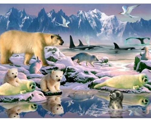 5D Diamond Painting Arctic Wildlife Kit