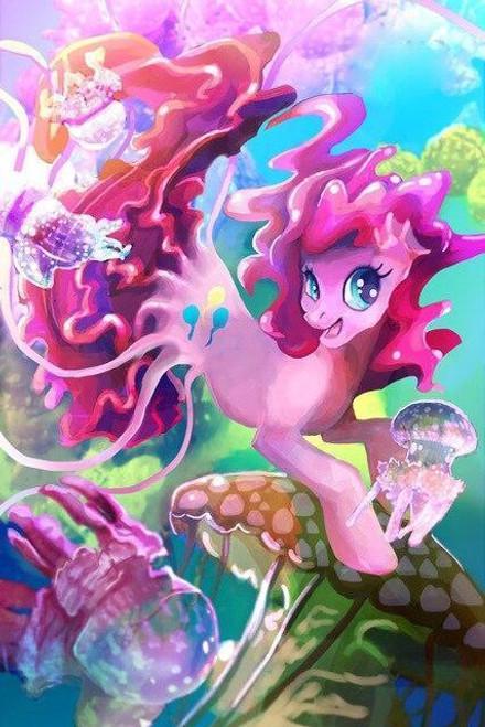 5D Diamond Painting Pinkie Pie Mermaid Pony Kit