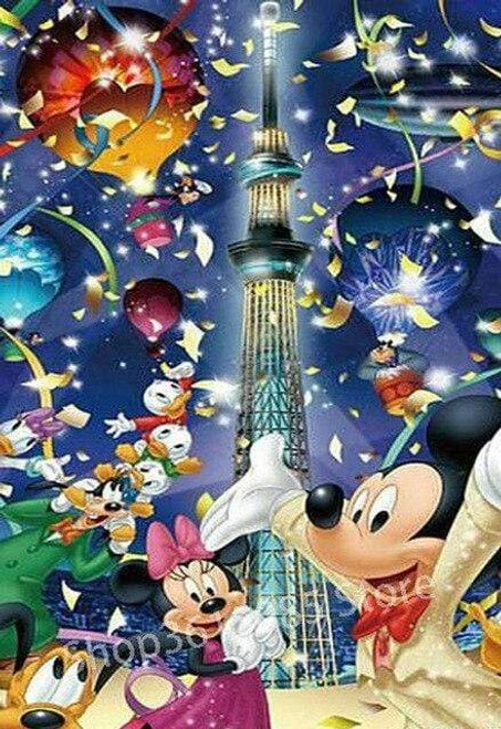 5D Diamond Painting Mickey Mouse Space Needle Kit