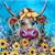5D Diamond Painting Yellow Bow Cow Kit