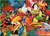 5D Diamond Painting Colorful Bird Collage Kit