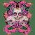 5D Diamond Painting Three Skulls and Roses Kit