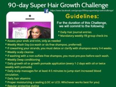 ​90-day Super Hair Growth Challenge Guidelines