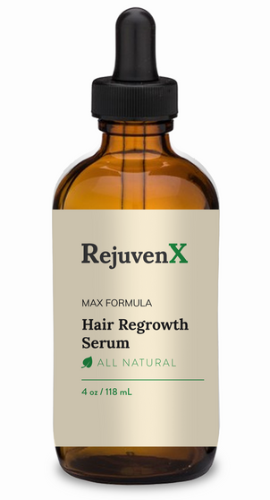 RejuvenX Max Formula Hair Regrowth Serum  Serious treatment for serious needs.