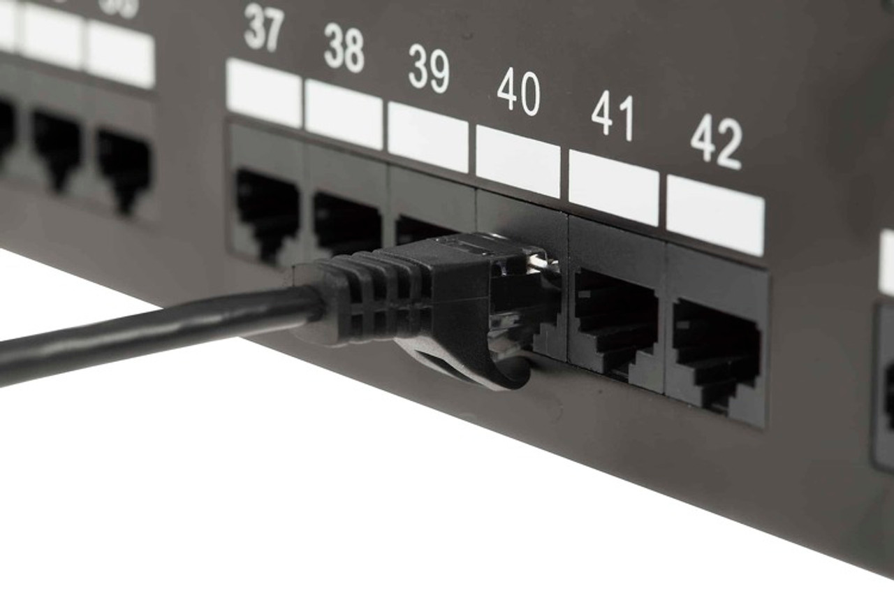 UTP 1' CAT5E Black Patch Cable With Ferrari Boots 568B