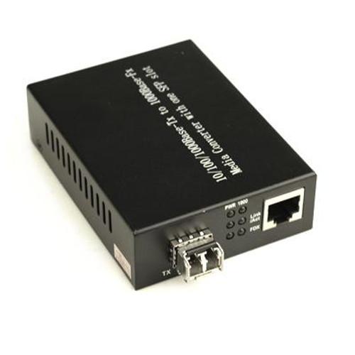 SingleMode, 10/100/1000Base-TX, W/SFP LC module