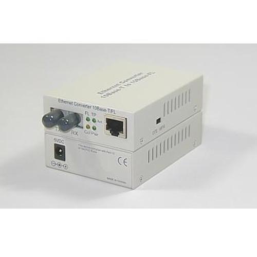 Media Converter, 10BASE-FL ST to 10BaseTX RJ45