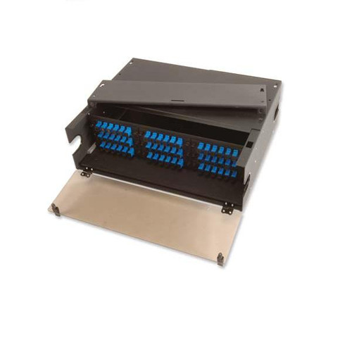 Fiber Enclosure, Rack Mount 3U, holds 9 Panels, Black