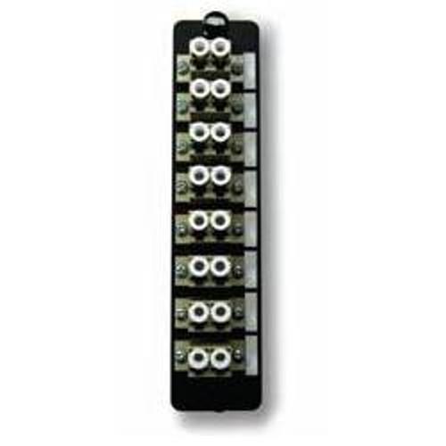 Fiber Adapter Panel, 16 count LC MM/SM, 8 Duplex LC Conn.