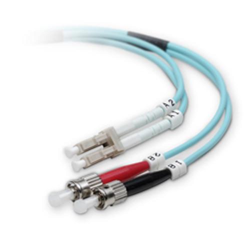 Fiber 10G aqua 50/125 LC/ST Duplex 2M (6.56 feet)