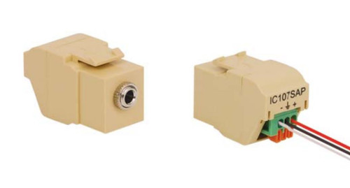 3.5mm Stereo Push-Pin, Nickel Plated, White Keystone