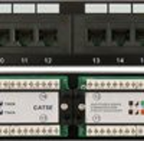 CAT5E 24 Port, 110 IDC Patch Panel | 1U