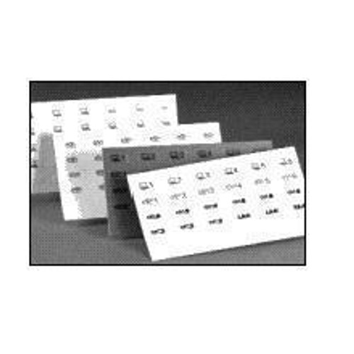 Label-5 Sheets 30 Blank Yellow
