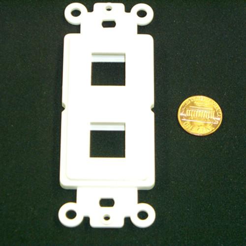 Decora insert 2 keystone port white