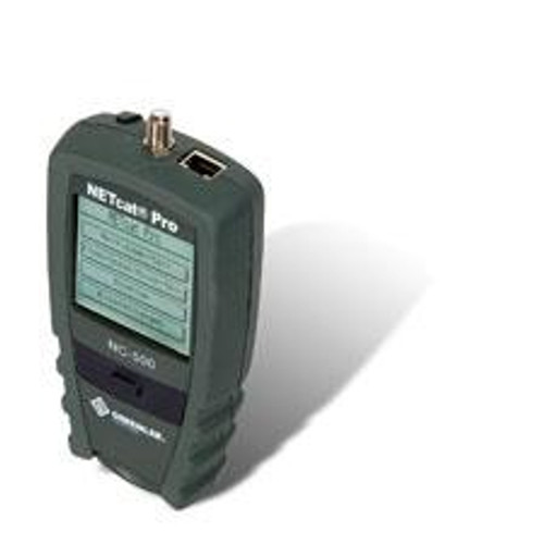 NetCAT 500 twisted pair + coax tester, length + network