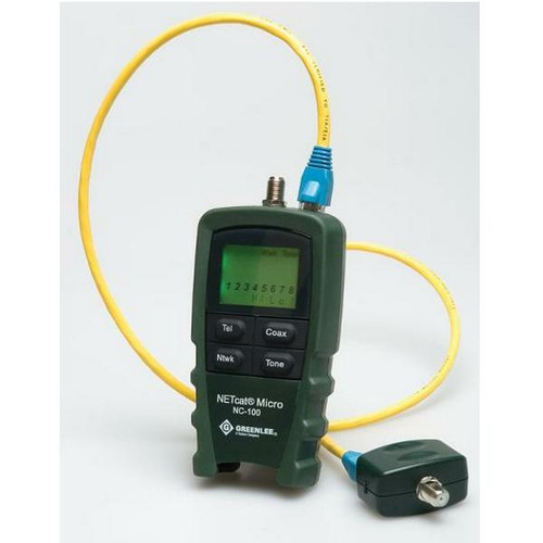 NetCAT 100 twisted pair + coax tester
