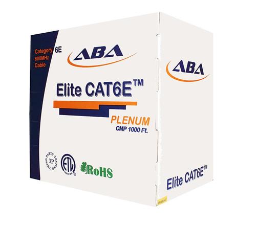 CAT6E Plenum 4 Pair 600MHz Solid (Bare Copper), Blue, Spline, 1K/Box